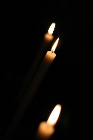 candles in the dark